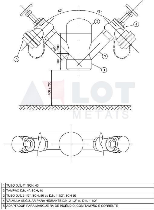 Hidrante Petrobras Tipo I Conforme N-111