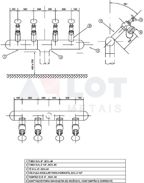 Hidrante Petrobras Tipo VI Conforme N-111