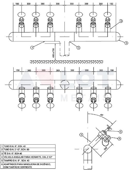 Hidrante Petrobras Tipo VII Conforme N-111