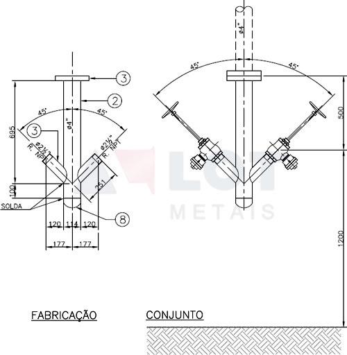 Hidrante Industrial Tipo Y Invertido