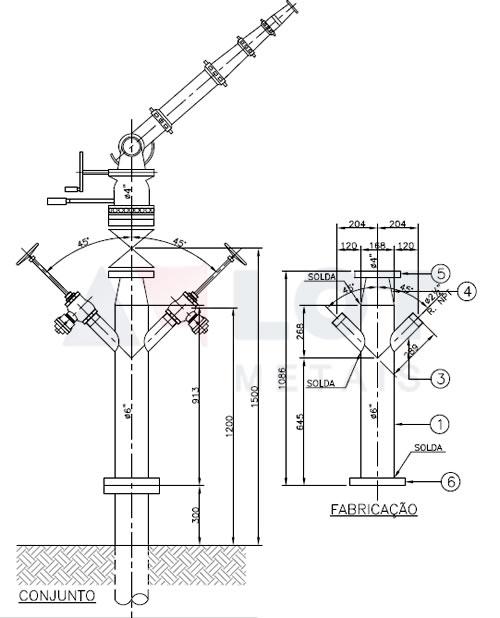 Hidrante Industrial Tipo Y para Canhão