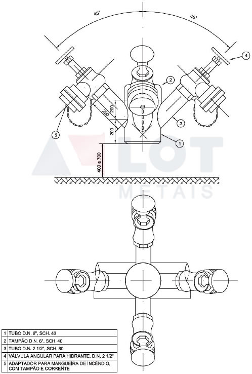 Hidrante Petrobras Tipo II Conforme N-111