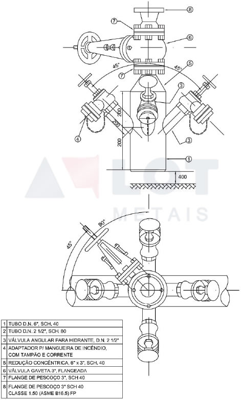 Hidrante Petrobras Tipo IV Conforme N-111