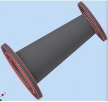 Redução ferro fundido flangeada